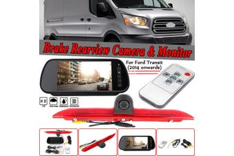 For Ford Transit 2014-2018 7'' Monitor & LED Rear Brake Light Reversing Camera