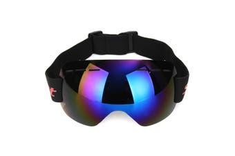 Frameless Snowboard Snowmobile Profession Ski Goggles Winter Anti Fog UV (blue)