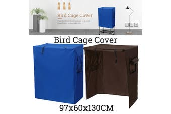 Large Bird Parrot Cage Aviary COVER WATERPROOF ONLY , 97CM X 60CM X 130CMTALL(blue)