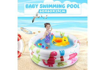60x60x25cm 3 Layers Paddling Garden Pool Toddler Small Kids Fun Swimming Poor for Kids Outdoor Baby Inflatable(Only 1PCS Pool)