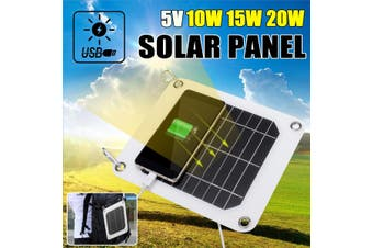 10/15/20W 5V Outdoor Foldable Travel Solar Power Panel Battery Charger Ultra Thin USB Port for Phone(Type B - 7W)