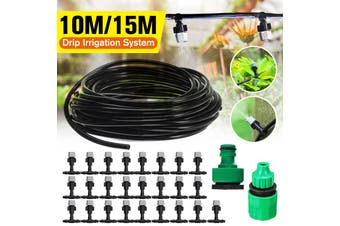 Outdoor Cool Patio Misting System Fan Cooler Water Mist Gardenhouse Spray Hot 【15m 25pcs】(15M with 25pcs Sprinkler)