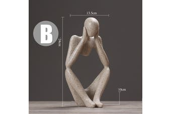 Focus Abstract Sandstone Figure People Simple Home Decor (Concentrated Thinker)