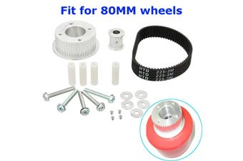 17Pcs/Set Electric Skateboard Pulley Motor Mount Drive Kit Parts For 80MM