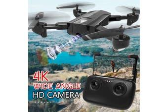 SG900 2200mAh 2.4G Wifi FPV Drone 4K HD Camera Foldable RC Quadcopter Drone w/ Bag -- White / Black【Storage bag / Color box】(black,4K Camera with 2200mAh)