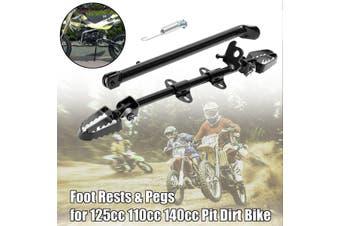 Universal Motorbike Side Kick Stand Foot Pedal Pegs 125cc 110cc 140cc Pit Bike(black)