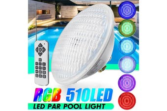 RGB Underwater Swimming Pool Light 18/30/36W AC12-16V/DC12-24V Color Changing Wall Mounted Waterproof IP68 Submersible Pool Light with Remote Controller(36W)