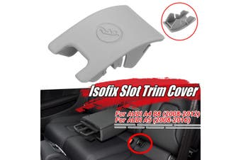 Grey Car Rear Seat Isofix Cover Child Seat Safety Anchor For Audi A4 B8 A5(grey)