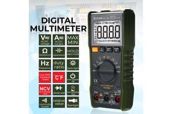 6000 Counts Digital Multimeter AC / DC Ammeter Voltmeter Ohm Meter Portable Backlighting Multimeter Digital Data Display Instrument(green,using enhanced version)
