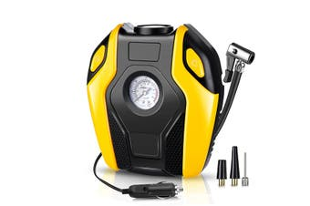 12V Car 150PSI Air Compressor Tyre Portable Electric Digital Bike Inflator Pump(yellow & black,Electric Air Pump)