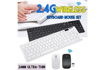 【Free Shipping + Flash Deal】2.4Ghz Wireless Keyboard And Mouse Set For PC Macbook Smart Box TV Computer New(black)