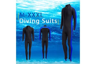 Men Women's Full Body Stretch Wetsuit Swimming Diving Snorkeling Surfing Suit(orange,M)