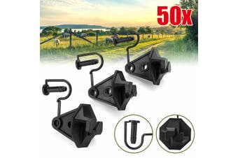 50Pcs Pin Lock Nail-on Insulators For Electric Fence With Steel Post Wire Cord