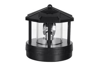 Solar Powered LED Rotating Light Garden Yard Lawn Lamp Outdoor Lighting Decor(black,Solar LED Light)