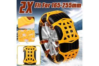 1/2pcs Car Truck Snow Mud Anti-skid Tyre Tire Chain TPU Beef Tendon Wheel Strap Belt(1pc)