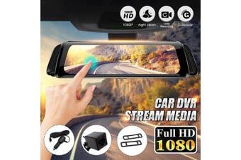 "10"" HD 1080P Touch Screen Stream Media Car Rearview Mirror DVR Camera Recorder(Type B(10"" Full Screen))"