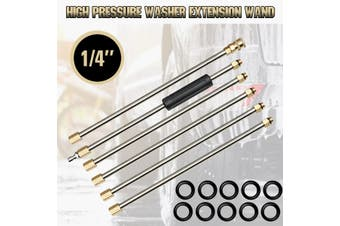 "6x 1/4"" High Pressure Washer Extension Wand For Pressure Washer Part +10x O-ring"