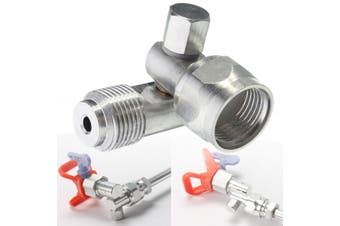 7/8'' F-7/8'' M Silver Universal Silver Swivel Joint Adapter Tool for Airless Spray Gun