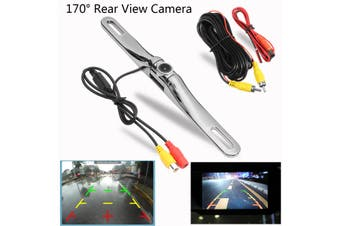 170° Wireless Car Reverse Rear View Camera Backup License Plate DVD Monitor Kit(silver,Type B)