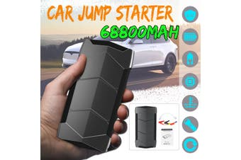 【Free Shipping + Flash Deal】99900mAh 2 USB Car Jump Starter Pack Booster Charger Battery Power LED 12V(black,with Temperature Protection)