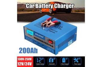 Car Charger Automatic Intelligent 130/250V 12/24V 200AH Pulse Repair EU(South Africa Plug)
