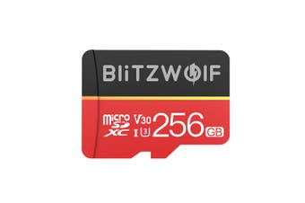 BlitzWolf BW-TF1 Class 10 UHS-1 32GB UHS-3 V30 64GB 128GB Micro SD TF Memory Card with Adapter