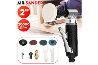 Mini Air Sander Polisher 90° Angle Orbital Polishing Car Grinding 2'' Sander Pad
