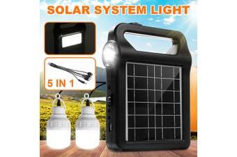 2W Solar Panel Lighting Generator System Kit Emergency LED Lamp Light Home Outdoor for Indoor Lighting, Outdoor Lighting Camping Home Lighting