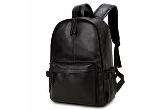OURBAG Men's Vintage PU Leather Backpack Casual Business Travel Shoulder Bag