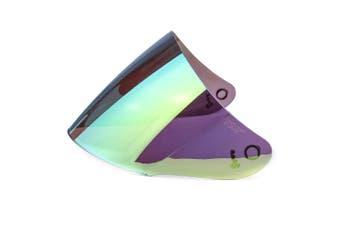 Motorcycle Helmet Lens Visor Full Face Motocross Shield Sunscreen For KYT GP(gold,Low Quality)