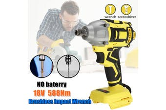 18V Dual-purpos Cordless Drill Electric Screwdriver 588N.M Driver For (yellow)