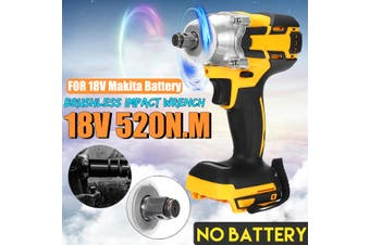 1/2'' 520N.M High Torque Impact Wrench Brushless Replacement For Makita Battery(Type D)