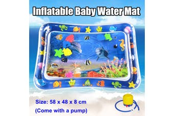 Inflatable Baby Water Mat Novelty Play Tummy Time Kids Infants Toys with Pump