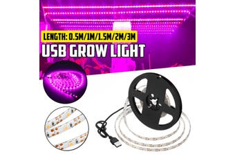 3/2/1.5/1/0.5M LED Strip Grow Light Full Spectrum Flower Plant USB Growth Lamp for Greenhouse Waterproof