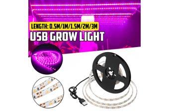 3/2/1.5/1/0.5M LED Strip Grow Light Full Spectrum Flower Plant USB Growth Lamp for Greenhouse Waterproof