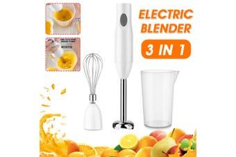 Electric 3in1 Handheld Blender Food Mixer Grinder Fruit Whisk Egg Beater Stick(US Plug)
