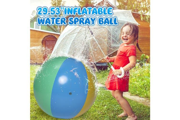 Inflatable Water Spray Beach Watermelon Ball Summer Outdoor Kids Sprinkler Toy