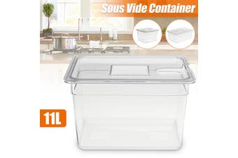 11L/22L Sous Vide Container w/ Lid for Culinary Immersion Slow Cooker Circulator(11 l)