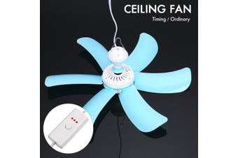 5 Blade Mini Ceiling Hanging Summer Fan Wind Working System 40cm Low Noise(1.3m(without Timing Function))