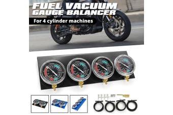 Motorcycle Moto Carb Carburettor Vacuum Balancer Gauge 2 / 4 Cylinder Gauges Kit(4Pcs(Set))