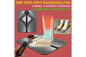 Electric EMS Tens Foot Massager Pad Physiotherapy Massage Foot Relax Mat 9 Speed