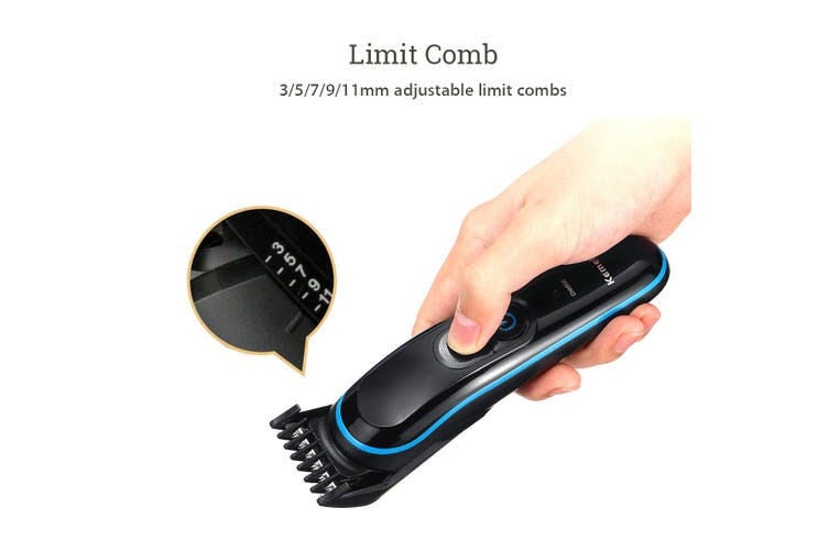 Professional Hair Trimmer Clipper Rechargeable Cutting Electric Shaver Remover-USB(Type A (USB))