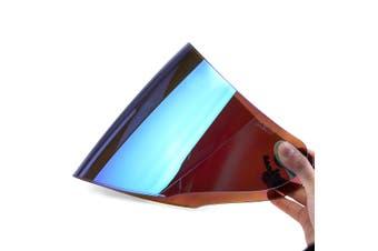 Motorcycle Helmet Lens Visor Full Face Motocross Shield Sunscreen For KYT GP(blue,Low Quality)