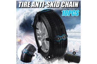10 GM snow chains SUV tires with winter essential snow mud ice truck wheel tendons snow chains(10Pcs Set)