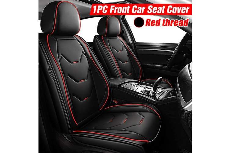 Universal Deluxe B&Blue Automotive Interior Car Seats Cover PU Leather Full Wrap(black,2020 New Upgrade)