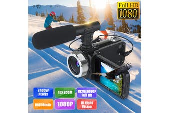 24MP 4K HD 1080P 18X Zoom 3inch LCD Digital Video Camera Camcorder DV With Mic