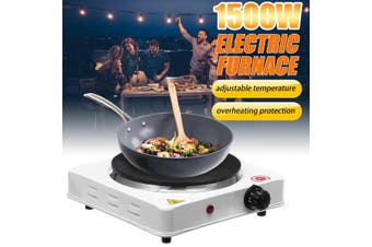 1500W Portable Single Electric Hot Plate Cooker Hotplate Stove Home Caravan (EU Plug)
