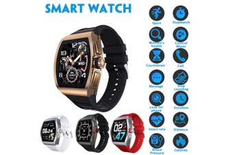 Men Smart Watch IP68 Waterproof Heart Rate Monitor M1 Smartwatch Android/IOS(black)