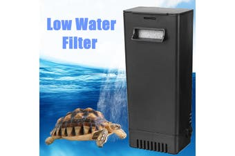 Aquarium Tank Low Water Level Small Filter Perfect for Turtle Snake & Fish