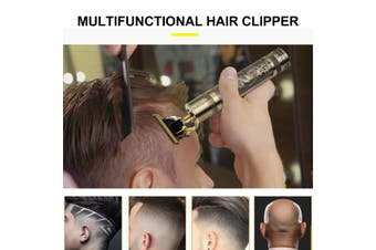 Men's Electric Hair Clipper USB Charging Shaver Socket With 4 Limit Comb (B)